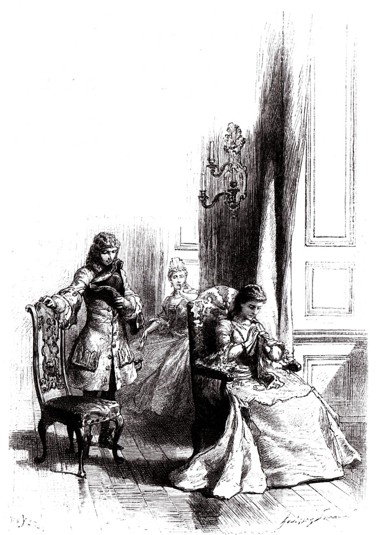 Walter Scott, Die Braut von Lammermoor, alte Illustration